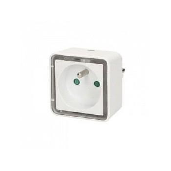 Prise avec lampe de chevet carrée à LED intégré - Orno