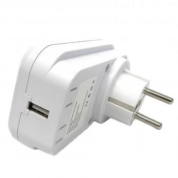 Prise wifi 15A avec porte USB compatible Google Home et Amazon Alexa - Wizelec