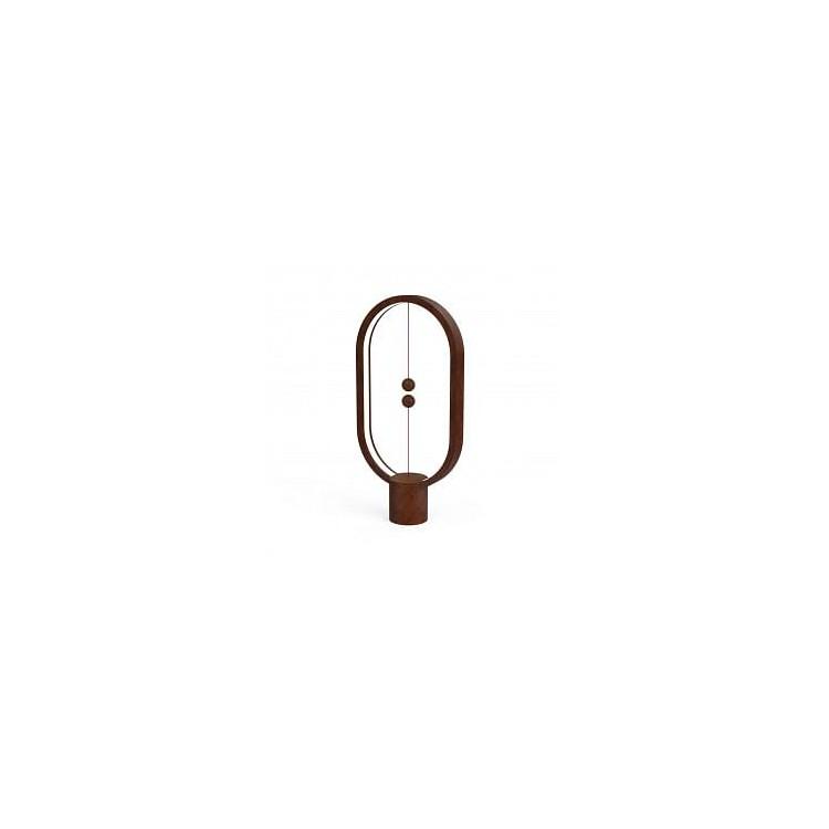 Lampe LED Heng en bois foncé avec interrupteur magnétique - Allocacoc