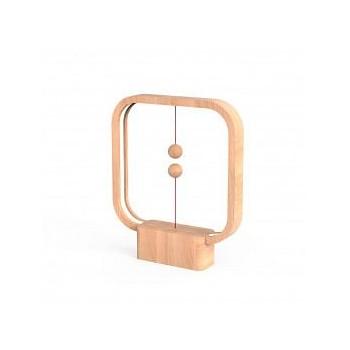 Lampe LED Heng carrée en bois clair avec interrupteur magnétique - Allocacoc