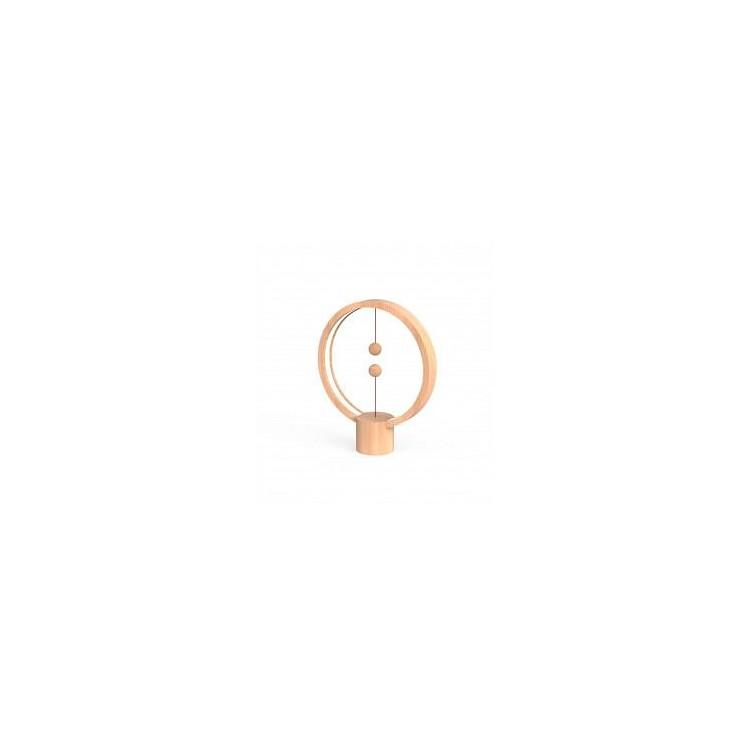 Lampe LED Heng ronde en bois clair avec interrupteur magnétique - Allocacoc