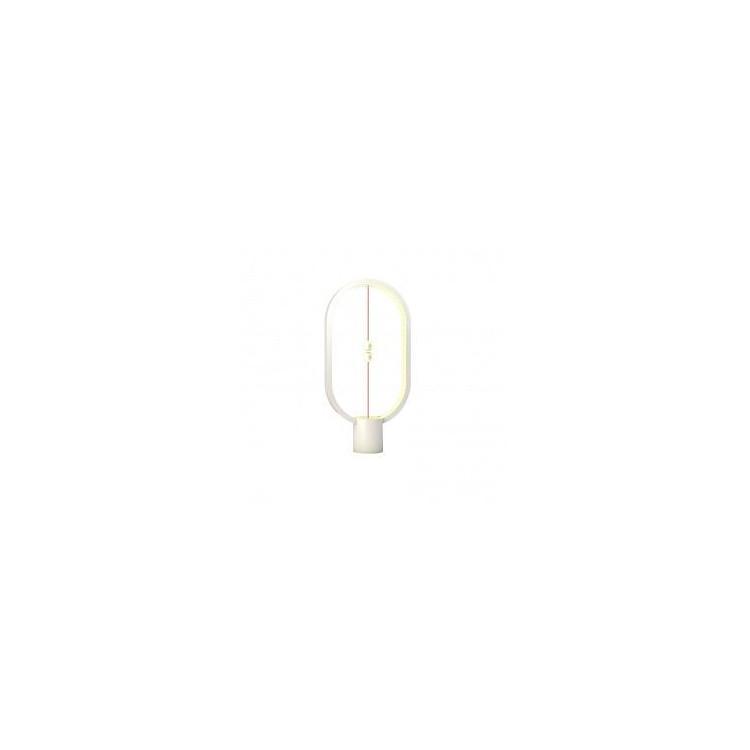 Lampe LED Heng en plastique blanc avec interrupteur magnétique - Allocacoc