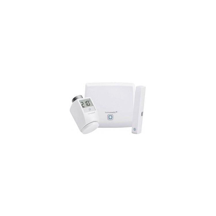 Kit de démarrage chauffage à distance avec vanne, détecteur et centrale - Homematic Ip
